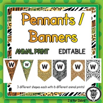 Pennants & Banners - Editable