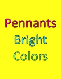 Pennants/Banners bright colors