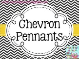 Pennants - Black & White Chevron