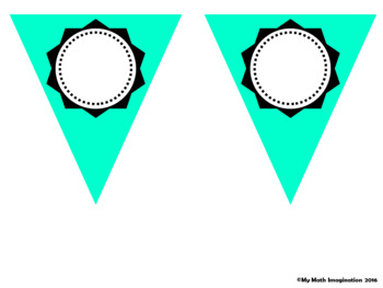 Pennants For Your Classroom - Decorations in Pastel Colors
