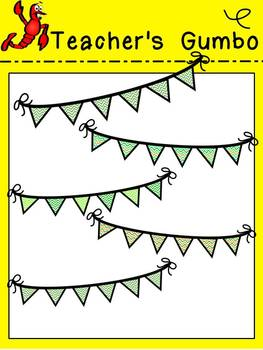 Pennants and Papers Clipart - St. Patrick's Day Edition