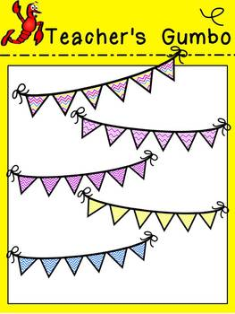 Pennants and Papers Clipart and Backgrounds - Spring Edition