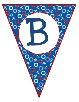 Banner Letters Pennants Nautical