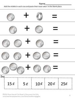 coins money activities counting coins identifying coins special education math. Black Bedroom Furniture Sets. Home Design Ideas