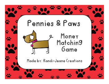 Money Matching Activity: Pennies & Paws