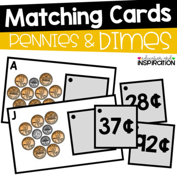 Pennies and Dimes Matching Cards by Education and Inspiration