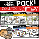 Pennies and Dimes Math Centers Bundle