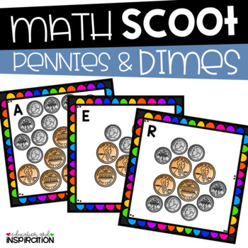 Pennies and Dimes Math Scoot!