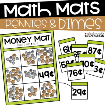 Pennies and Dimes Money Mats by Education and Inspiration
