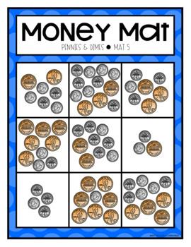 Pennies and Dimes Math Mats
