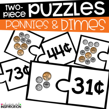 Pennies and Dimes Puzzles by Education and Inspiration