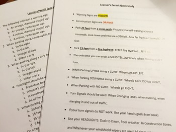 Pennsylvania Learner's Permit Study Guide & Practice Quizzes