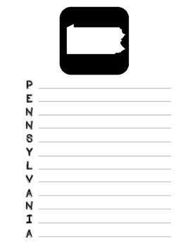 Pennsylvania State Acrostic Poem Template, Project, Activity, Worksheet