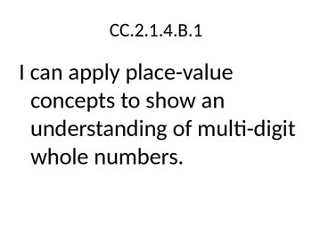 Pennsylvania Common Core I Can Statements - Math