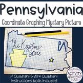 Pennsylvania Coordinate Graphing Picture 1st Quadrant & ALL 4 Quadrants