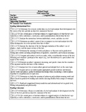 Pennsylvania Core ELA Grade 7 Unit Template
