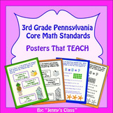 "Pennsylvania 3rd Grade Core Math Standards: ""I Can"" Statements"