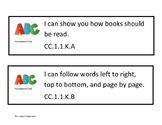 I Can Statements Pennsylvania Core Standards for Kindergarten