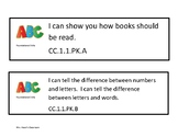 I can Statements Pennsylvania Core Standards for Pre-K