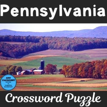 Pennsylvania Crossword Puzzle
