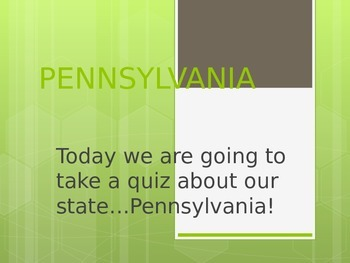 Pennsylvania Facts Quiz