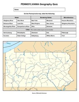 Pennsylvania Geography Quiz