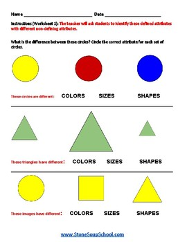 Grade 1  - Pennsylvania  - Geometric Shapes - Common Core