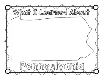Pennsylvania Graphic Organizers (Perfect for KWL charts and geography!)