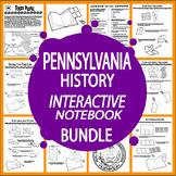Pennsylvania History Bundle–NINE Interactive Pennsylvania State Study Lessons