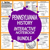 Pennsylvania History State Study Interactive Notebook Bundle – NINE Lessons