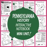 Pennsylvania History State Study Interactive Notebook Unit + AUDIO