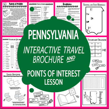 Pennsylvania History Travel Brochure + Points of Interest Lesson