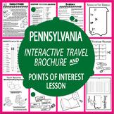Pennsylvania History Travel Brochure + Pennsylvania Points of Interest Lesson