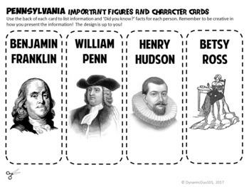 Pennsylvania Interactive Notebook Activities, Benjamin Franklin, and Test Prep