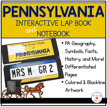 Pennsylvania Lap Book and Interactive Notebook