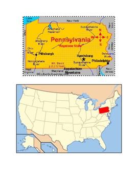 Pennsylvania Map Scavenger Hunt