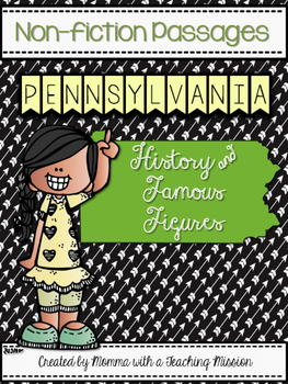 Pennsylvania Non-fiction Passages No Prep Printables