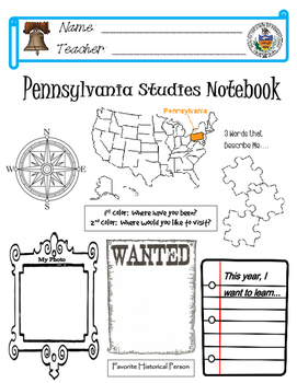 Pennsylvania Notebook Cover