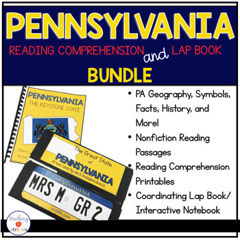 Pennsylvania Reading Comprehension and Lap Book Bundle