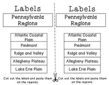 Pennsylvania Regions cut and paste