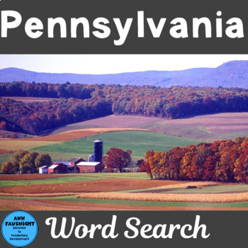 Pennsylvania Word Search