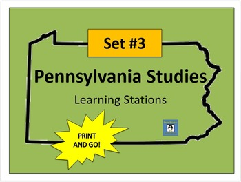 Pennsylvania Social Studies Learning Stations #3