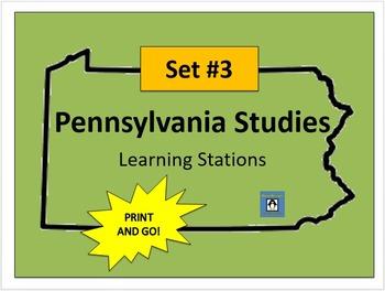 Pennsylvania Social Studies Learning Stations #3