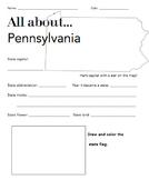 Pennsylvania State Facts Worksheet: Elementary Version