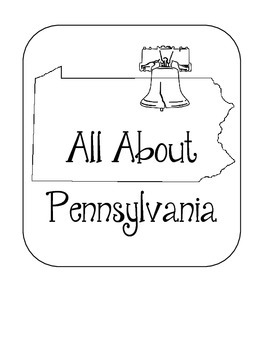 Pennsylvania State Lapbook. Interactive Notebook. US History and Geography