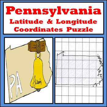 Pennsylvania State Latitude and Longitude Coordinates Puzzle - 24 Points to Plot