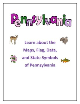 Pennsylvania Geography Maps, Flag, and Data Analysis Assessment