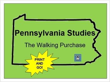 Pennsylvania Studies - The Walking Purchase Learning Stations #1