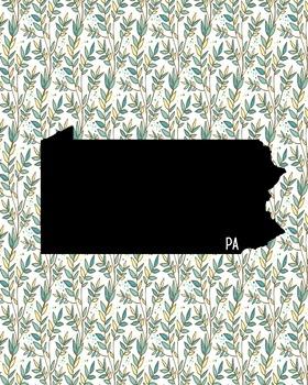 FREEBIE! Pennsylvania Vintage State Map or Poster Class De