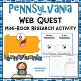 Pennsylvania Webquest Mini Unit - Guided Worksheets to Create Mini Book No Prep